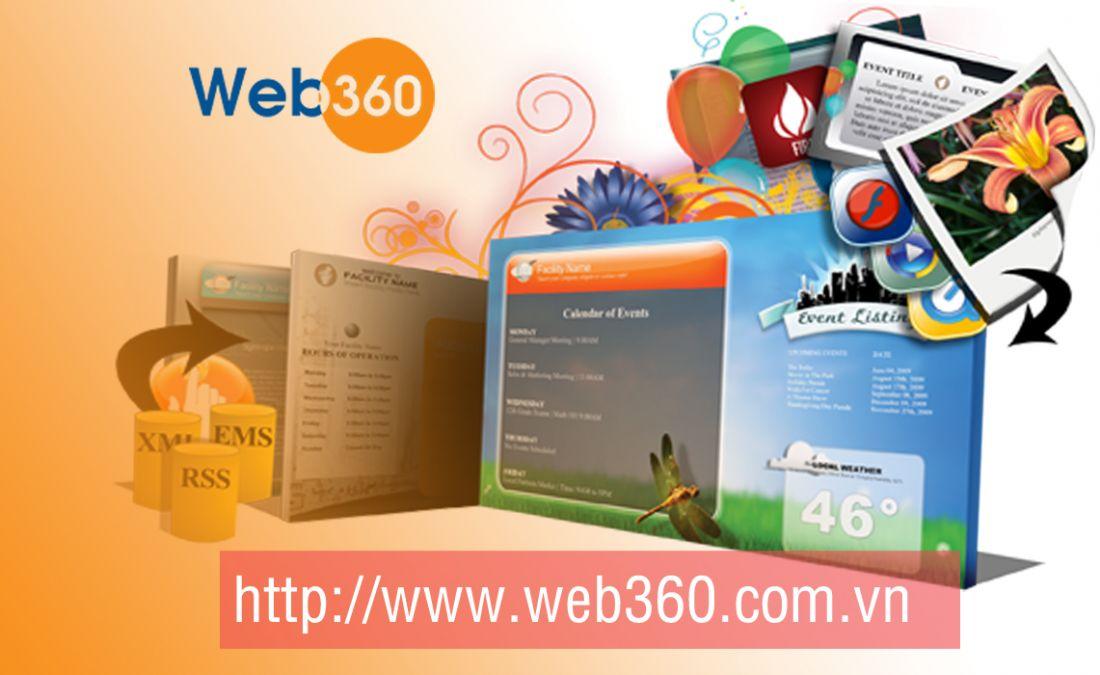 Các gói dịch vụ thiết kế website tại WEB 360