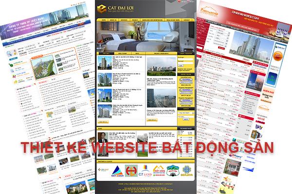 Thiết kế website Bất Động Sản, làm Web BĐS chuyên nghiệp