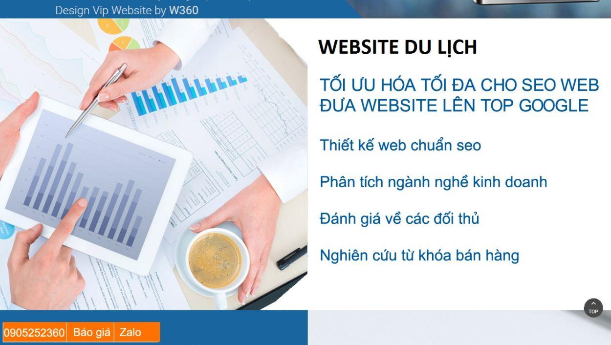 Thiết kế website chuyên nghiệp cho công ty du lịch
