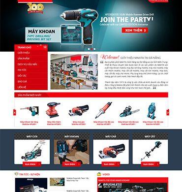 Dự án thiết kế website bán hàng cho makita