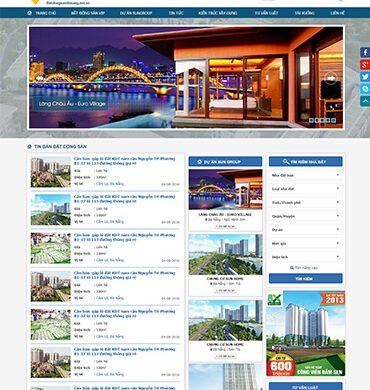 Dự án thiết kế website bất động sản sungroup
