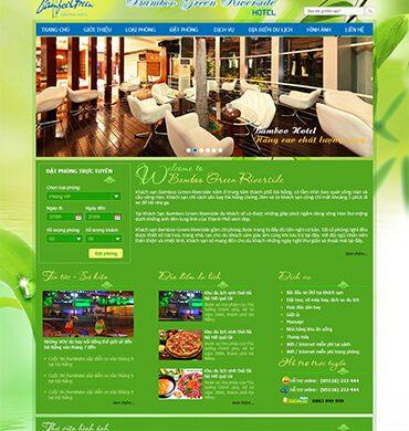Dự án thiết kế website khách sạn bambo green