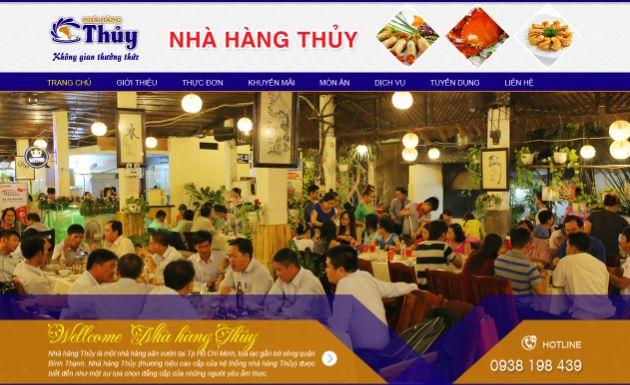 Thiết kế website Nhà Hàng tại đà nẵng