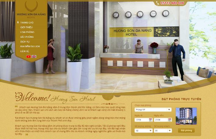 dịch vụ thiết kế web Khách Sạn
